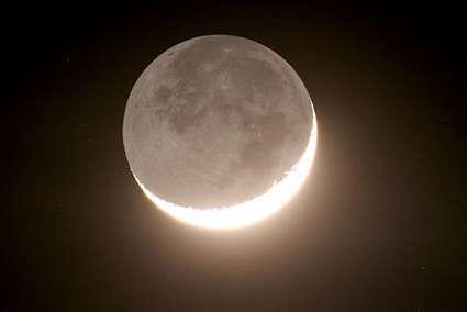 Earthshine_moon