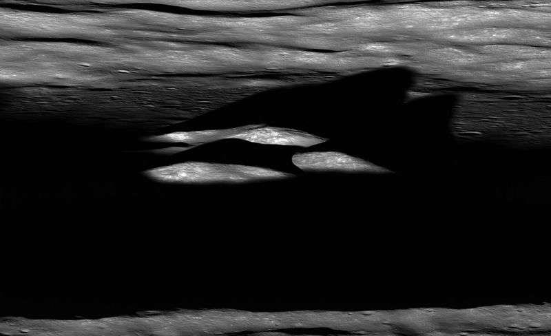 Фотография кратера Бхабха